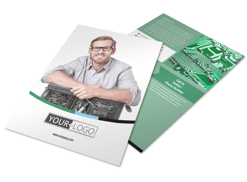 Computer Repair Shop Flyer Template MyCreativeShop - computer repair flyer template