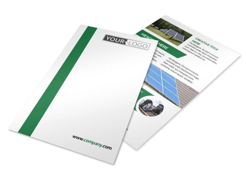 Solar Energy Company Flyer Template MyCreativeShop