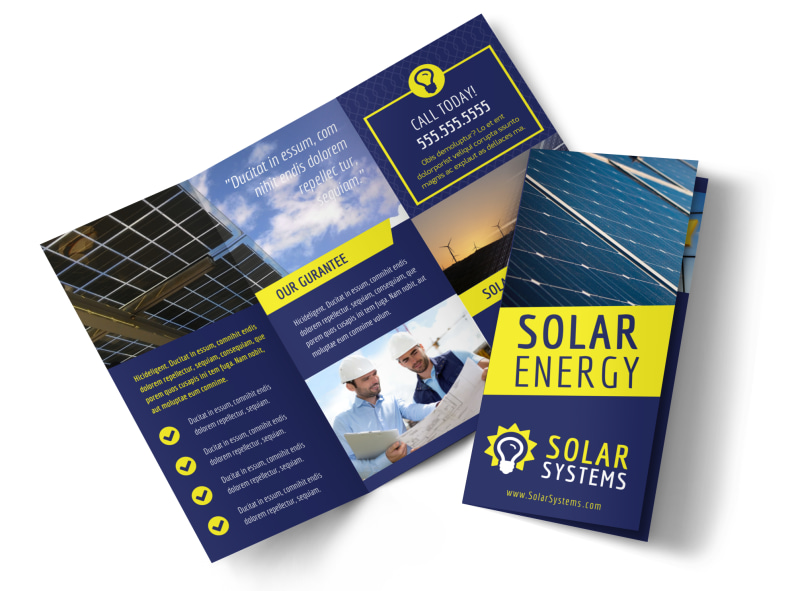 Solar Energy Company Brochure Template MyCreativeShop - Product Brochure Template