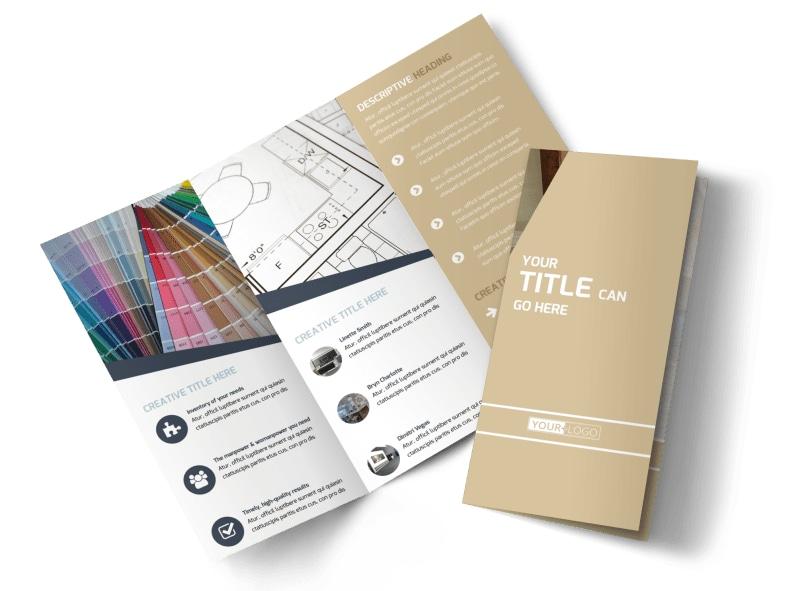 Interior Design Brochure Template MyCreativeShop - interior design brochure template