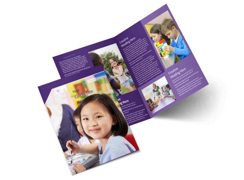 Child Care Center Brochure Template MyCreativeShop
