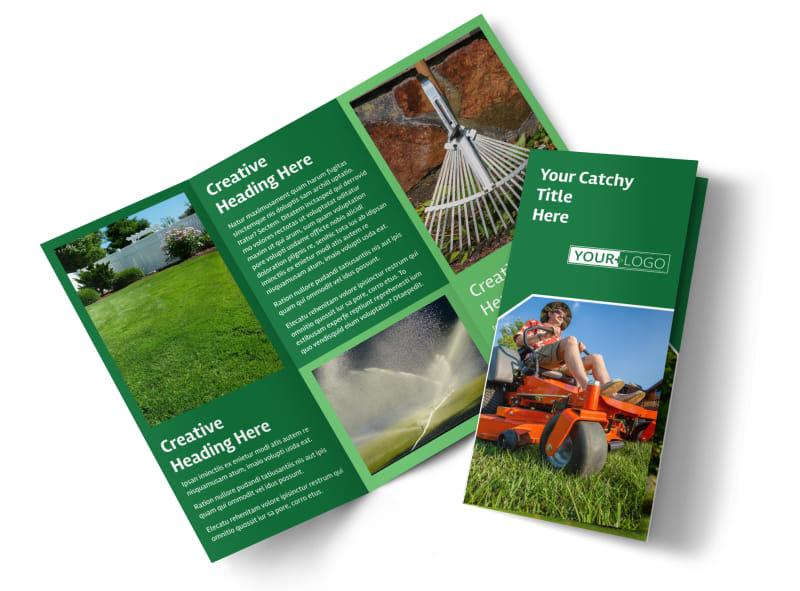 Lawn Care Service Brochure Template MyCreativeShop - lawn services flyer