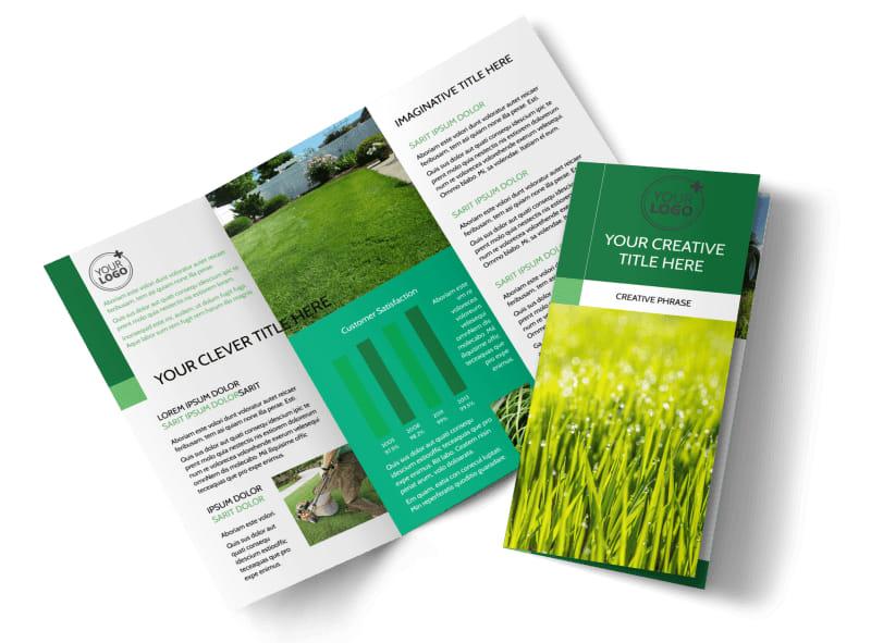 Lawn Mowing Brochure Template MyCreativeShop - services brochure