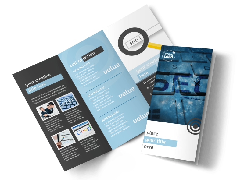 SEO Conference Brochure Template MyCreativeShop - conference brochure template