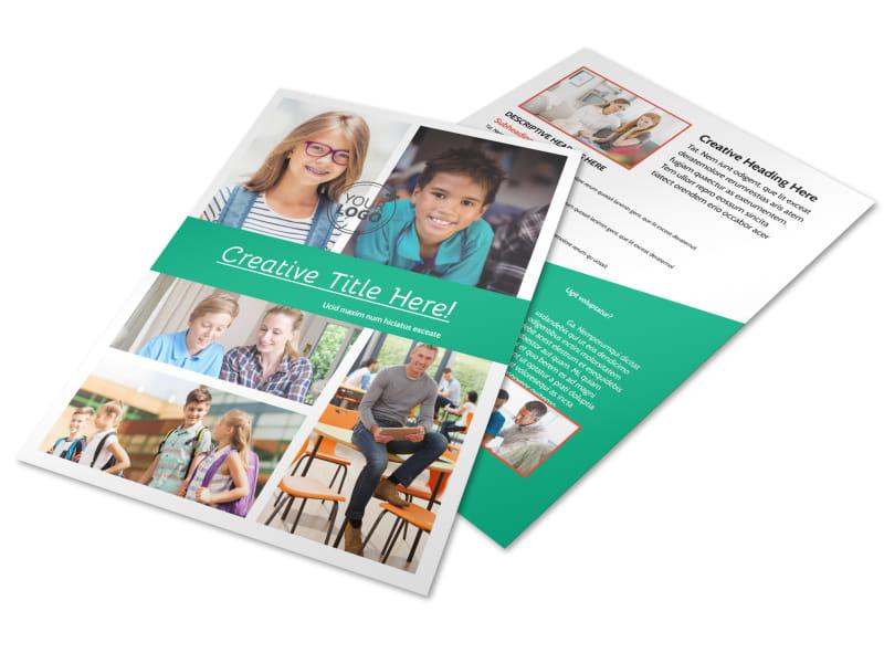 School Counseling Flyer Template MyCreativeShop