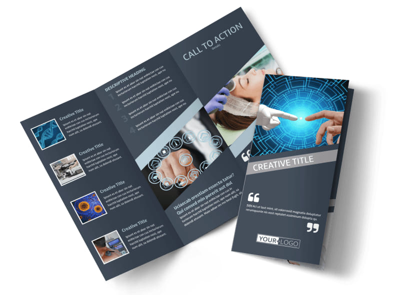 Medical Device Technology Brochure Template MyCreativeShop