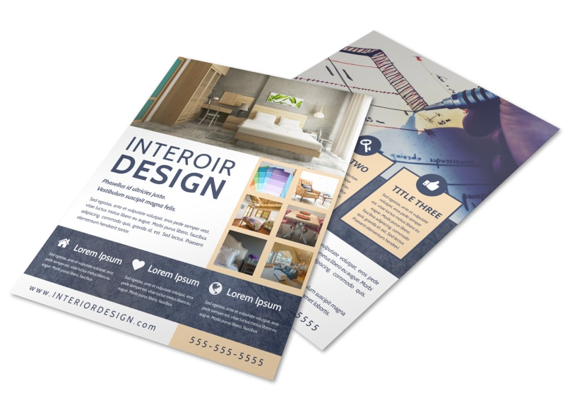 Creative Interior Design Flyer Template MyCreativeShop - interior design brochure template