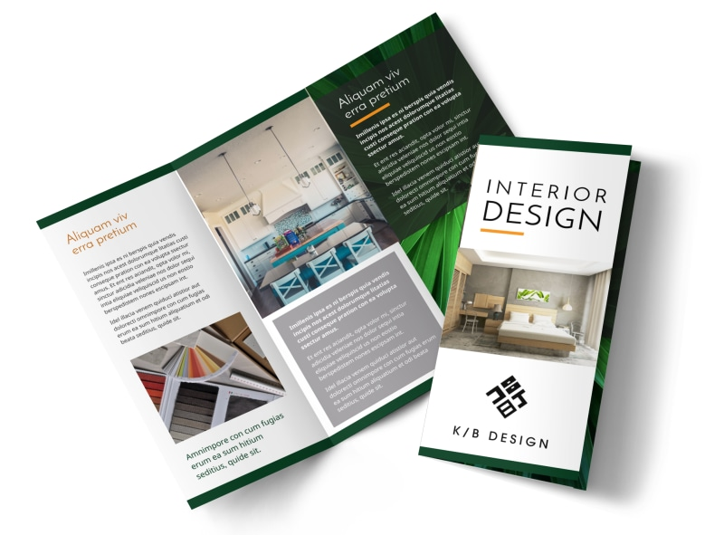 Creative Interior Design Brochure Template MyCreativeShop - interior design brochure template