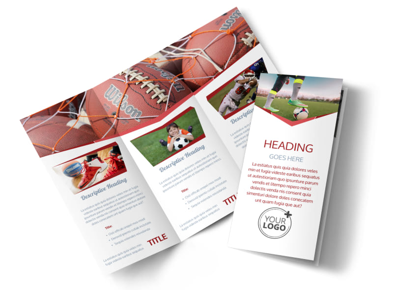 Sports Photography Brochure Template MyCreativeShop - sports brochure