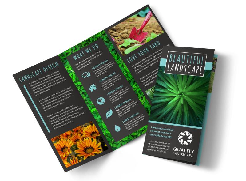 Beautiful Landscape Brochure Template MyCreativeShop