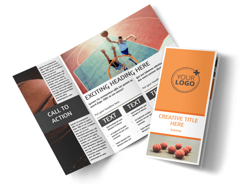 Basketball Camp Brochure Template MyCreativeShop