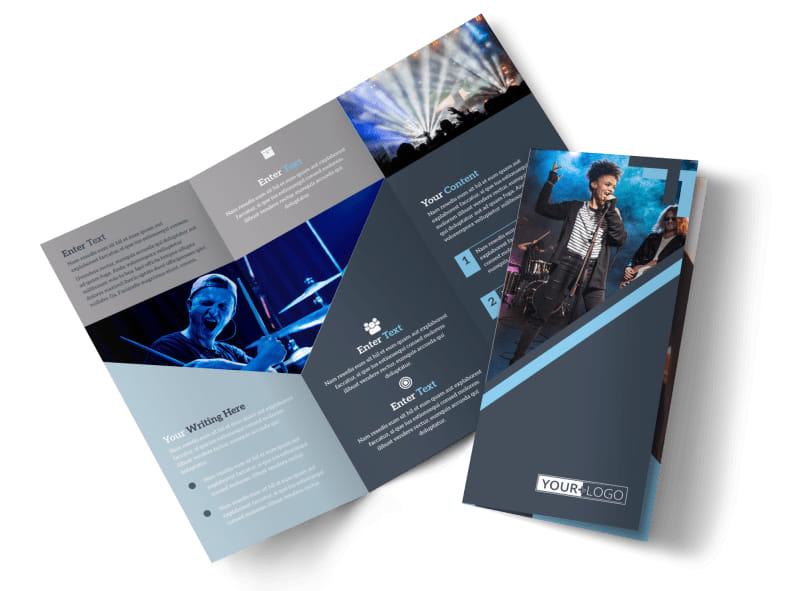 Pop Music Concert Brochure Template MyCreativeShop - music brochure