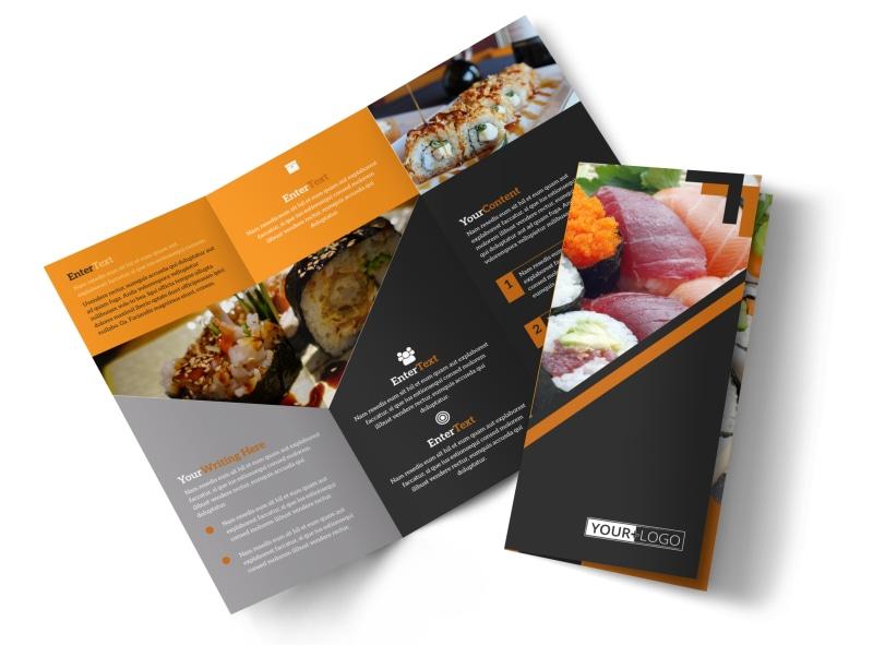 Outstanding Sushi Restaurant Brochure Template MyCreativeShop