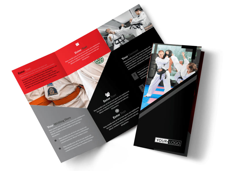Martial Arts Studio Brochure Template MyCreativeShop - studio brochure