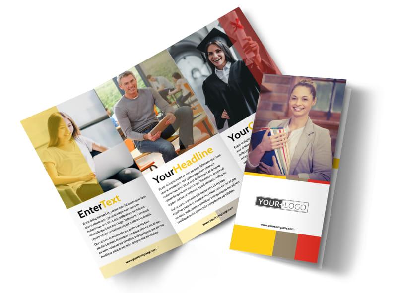 Adult Education Brochure Template MyCreativeShop
