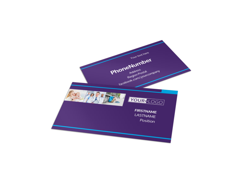 Pediatric Care Business Card Template MyCreativeShop