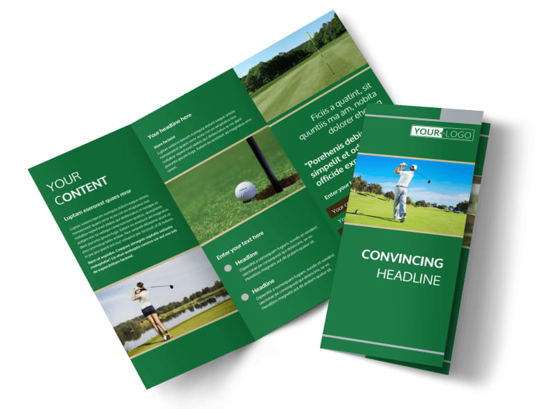 Perfect Swing Golf Tournament Brochure Template MyCreativeShop