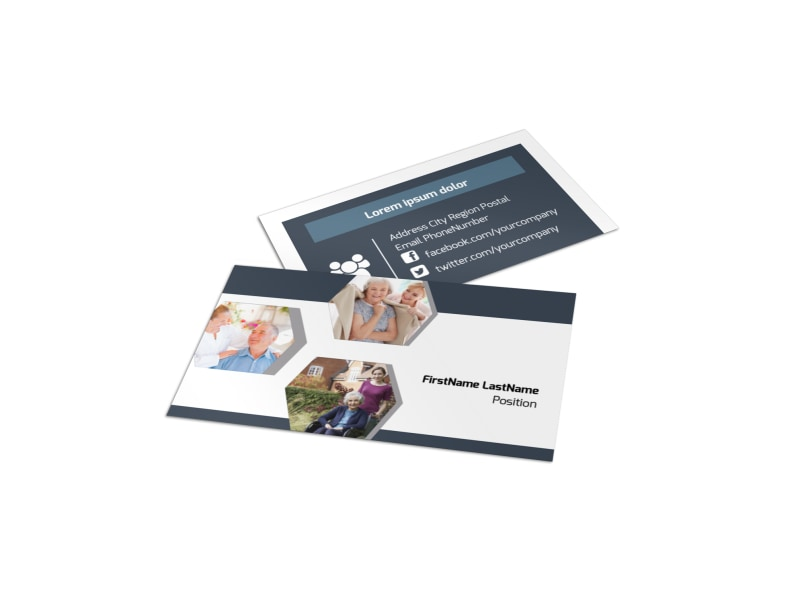 Home Healthcare Business Card Template MyCreativeShop - medical business card templates