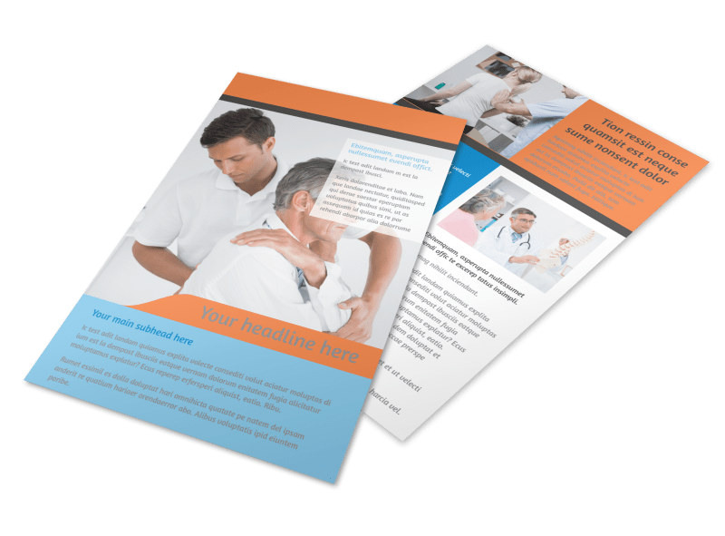 Chiropractic Clinic Flyer Template MyCreativeShop