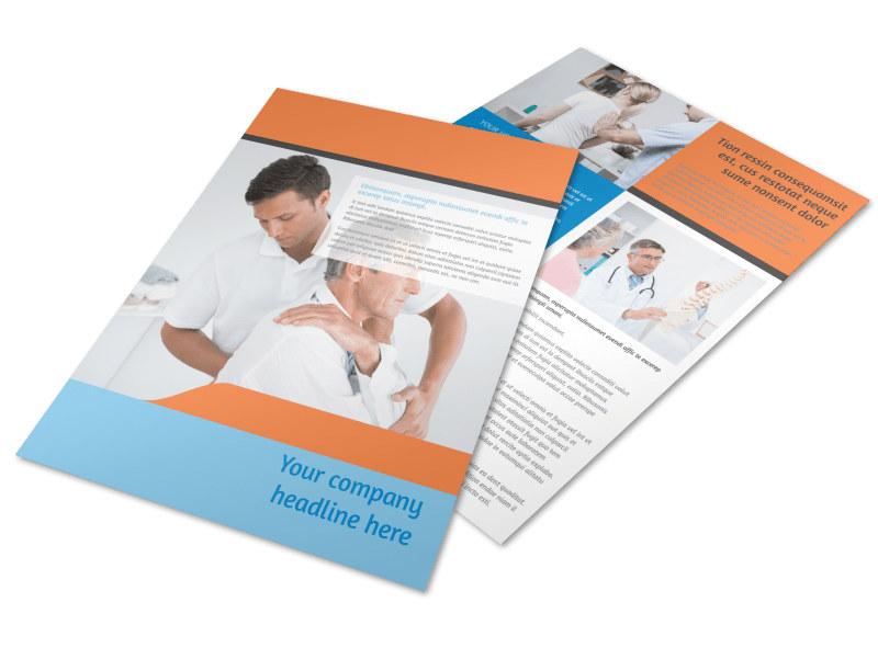 Chiropractic Clinic Brochure Template MyCreativeShop
