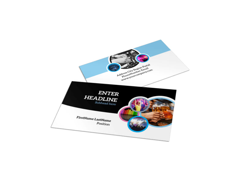 Club Party Business Card Template MyCreativeShop