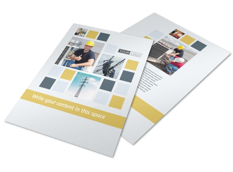 Electrical Service Flyer Template MyCreativeShop