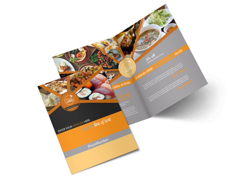 Asian Fusion Restaurant Brochure Template MyCreativeShop