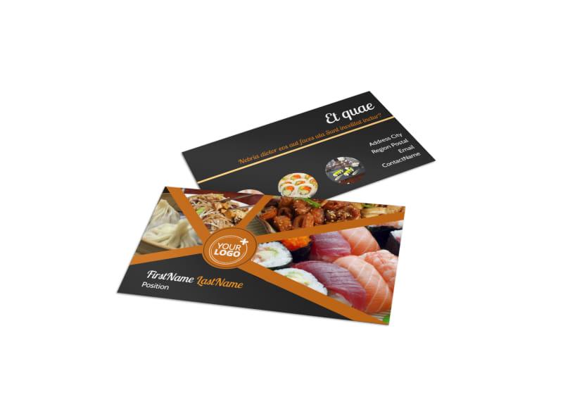 Asian Fusion Restaurant Business Card Template MyCreativeShop