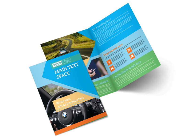 Driving School Brochure Template MyCreativeShop