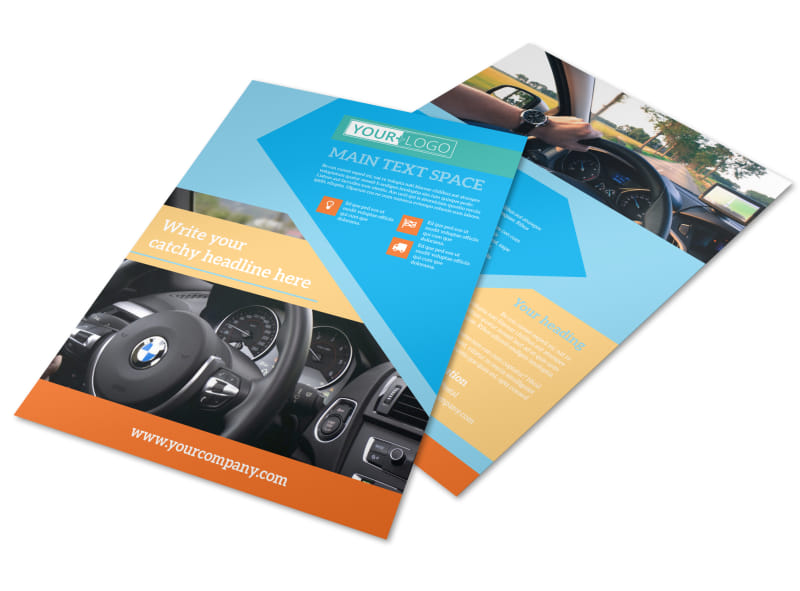 Driving School Flyer Template MyCreativeShop