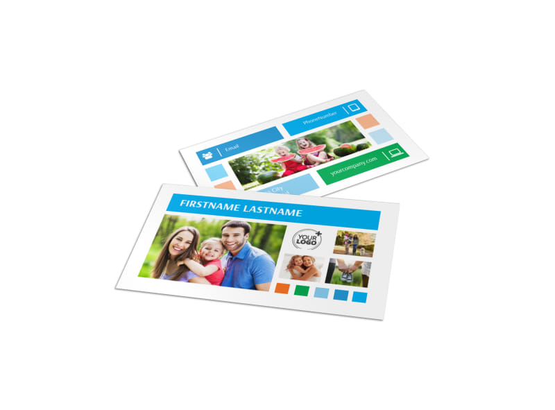 Family Photography Business Card Template MyCreativeShop - card templates for pographers