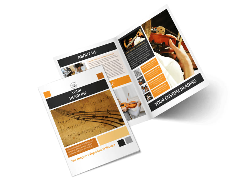 Music School Brochure Template MyCreativeShop
