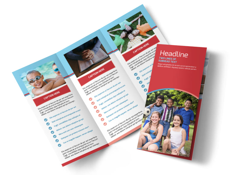 Christian Summer Camp Brochure Template MyCreativeShop - Summer Camp Flyer Template