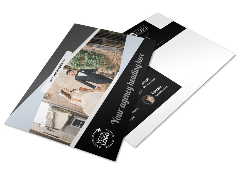 Wedding Video Service Postcard Template MyCreativeShop - video brochure template