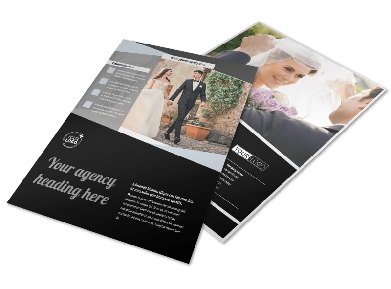 Wedding Video Service Flyer Template MyCreativeShop - video brochure template