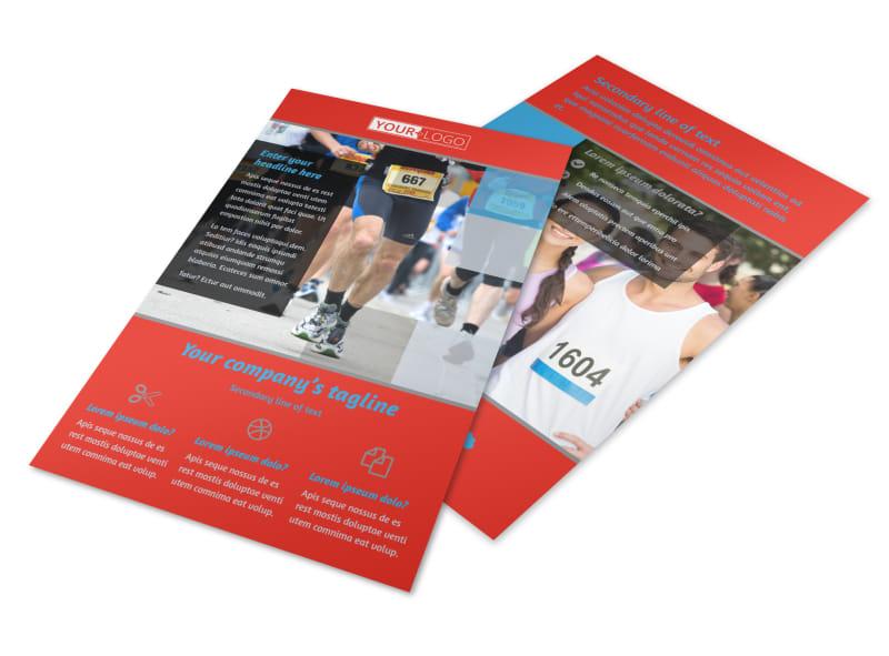 Marathon Race Fundraiser Flyer Template MyCreativeShop