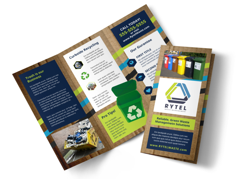Waste Disposal Brochure Template MyCreativeShop - Product Brochure Template