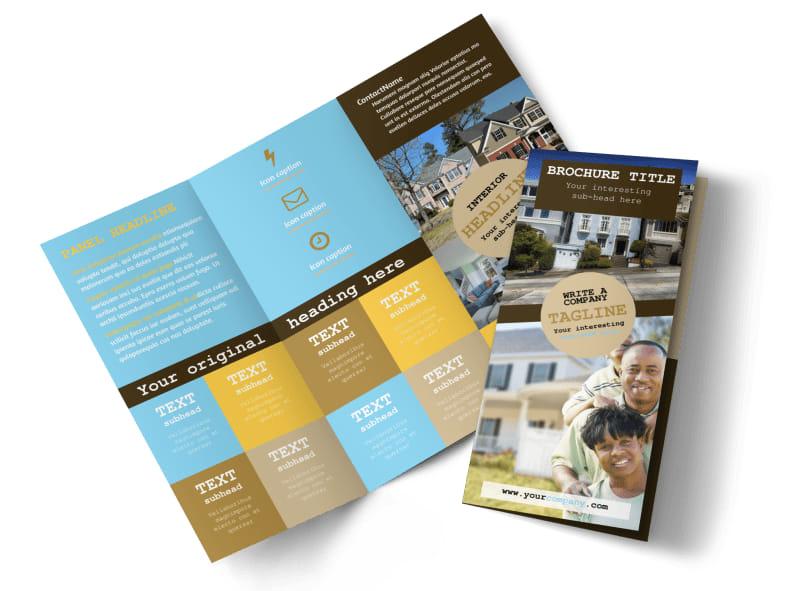 Local Real Estate Agent Brochure Template MyCreativeShop