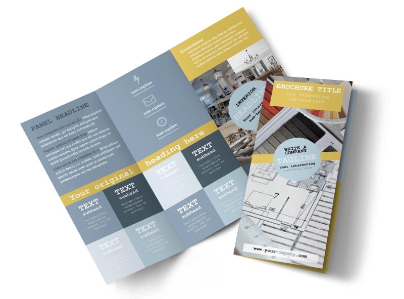 Interior Designer Brochure Template MyCreativeShop - interior design brochure template