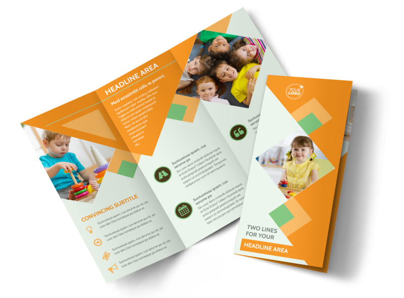 Child Care Brochure Template 7 Child Care Owner Child Care Brochure - blank brochure templates for kids