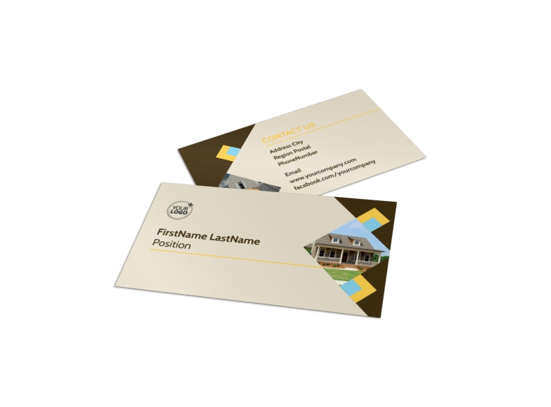 Local Property Management Business Card Template MyCreativeShop - business card template