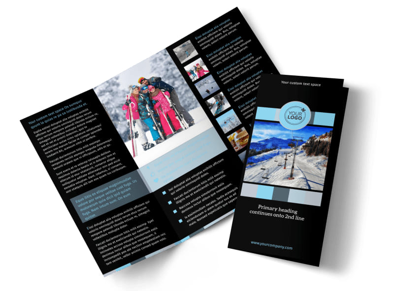 Top Ski Resort Brochure Template MyCreativeShop - Product Brochure Template