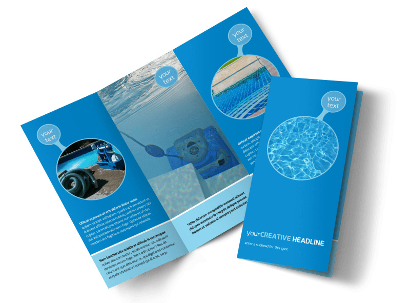 Residential Pool Cleaning Brochure Template MyCreativeShop - cleaning brochure template