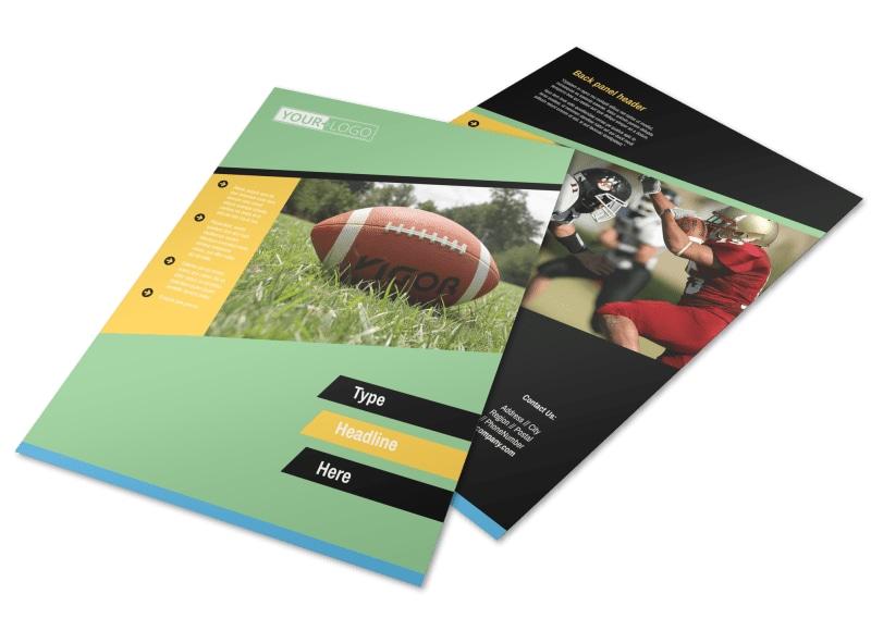 Football Camp Flyer Template MyCreativeShop - camp flyer template