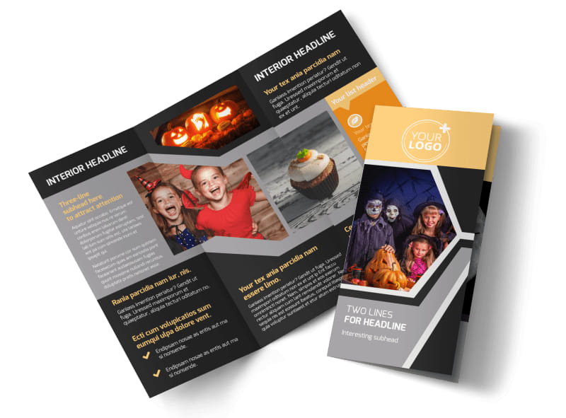 Halloween Party Brochure Template MyCreativeShop - party brochure template