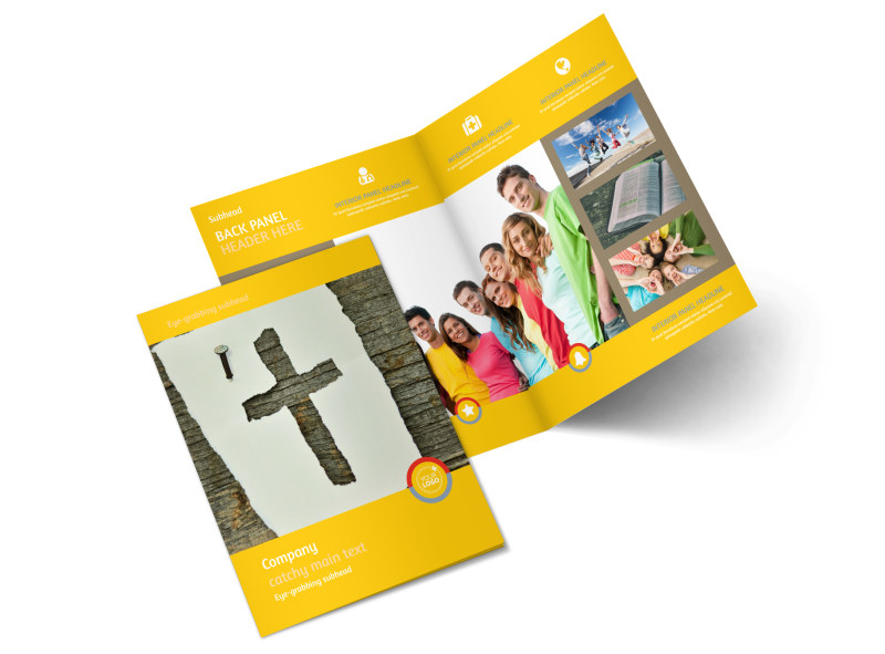 Youth Ministry Brochure Template MyCreativeShop