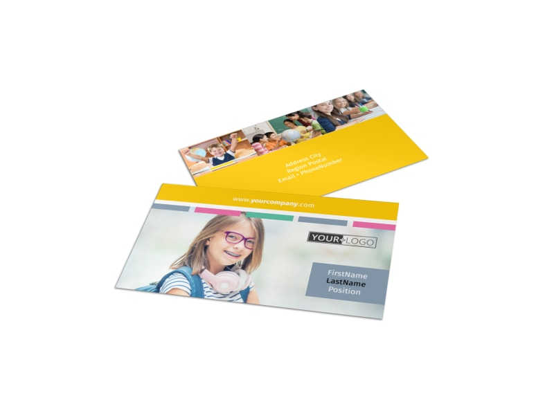 Child Education Business Card Template MyCreativeShop