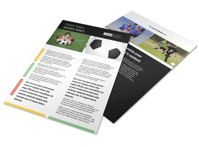 Soccer Camp Flyer Template MyCreativeShop