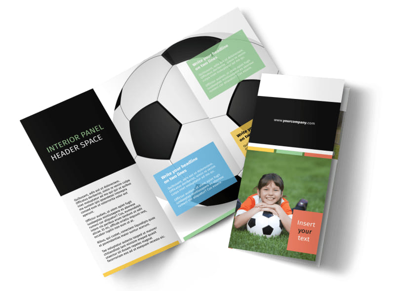 Soccer Camp Brochure Template MyCreativeShop - sports brochure
