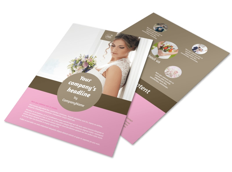 Wedding Florists Flyer Template MyCreativeShop - wedding brochure template